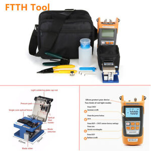 Ftth Tool Kit Visible Fiber Optic Fault Locator Power Meter Tester Cleaver Valid