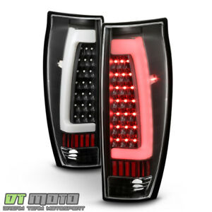 New Black 2002 2006 Chevy Avalanche 1500 2500 Led Tube Tail Lights Brake Lamps