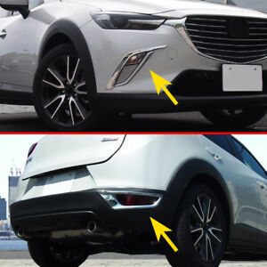 Front Rear Fog Light Cover Strips For Mazda Cx 3 2016 2019 Chrome Accessories