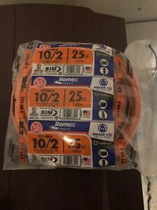 Romex 25 Ft 10 2 Solid Simpull Nm b Wire Electrical Building Indoor Residential