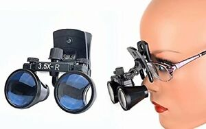 Dental 3 5x r Binocular Loupes Medical Glasses Magnifier Clip on Style