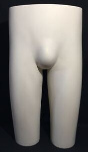 Vintage Jcpenny Male Mannequin Butt Buttocks Dress Form Self Standing Display