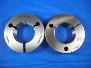 2 12 Un Special Thread Ring Gages 2 0 Go No Go Pds 1 9361 1 9301