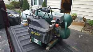 Vintage Air Compressor Rol air 2 Hp Bi Tank Mk200 p Works Great Pick Up
