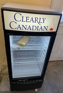 Clearly Canadian Branded Beverage Refrigerator Commercial Retail Display Cooler