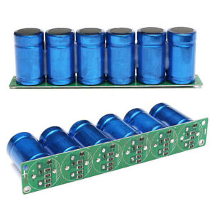 Farad Capacitor 2 7v 500f 6 Pcs 1 Set Super Capacitance With Protection Board Us