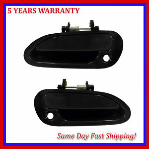 For Honda Accord 1998 2002 Smooth Black Outside Door Handle Front Pair Set