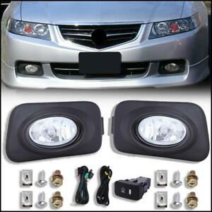 For 2004 2005 Acura Tsx Clear Bumper Driving Fog Lights Bulbs Switch