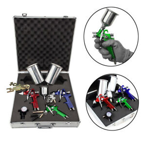 3 Hvlp Air Spray Gun Kit Auto Paint Car Primer Detail Basecoat Clearcoat Durable