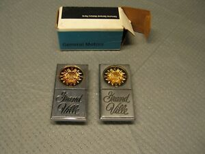 Nos Pontiac Grand Ville Sail Panel Emblem Ornament Vintage Gm Pair Grandville 73