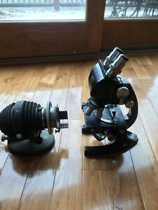 Excellent Bausch And Lomb Usa made Binocular Lab Microscope With Light