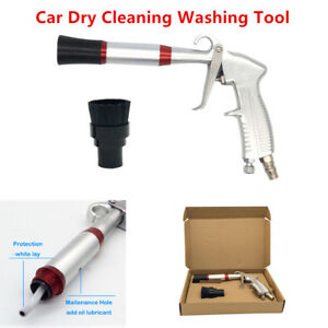 Car Truck Dry Air Cleaning Gun Tornado Pneumatic Spray Dirt Washing Tool Brush