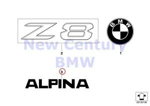 Bmw Genuine Emblems Letterings Text Feature alpina E52 E65 F01 F01n F02 F02n