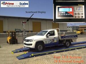 24 Ft Truck Scale Portable Axle Scale 120 000 Lb W Printer Scoreboard Indicator