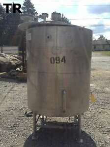 Bray Sharpsville 315 Gallon Jacketed Stainless Steel Batching Tank 100psi