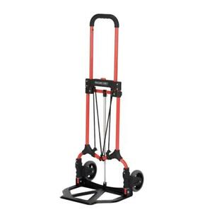 Folding Hand Truck Cart Mover Appliance Furniture 160 Lb Capacity Mci Steel Red