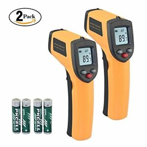 2 Pack Infrared Thermometer Ir Temperature Gun Non contact Digital Laser I