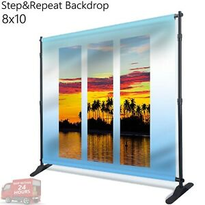 8x10 telescopic Trade Show Backdrop Adjustable Step And Repeat Banner Stand
