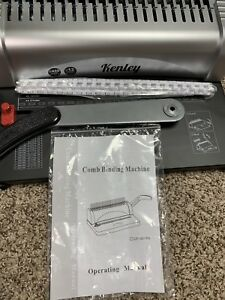 Kenley Binding Machine Paper Punch Binder With Starter Combs Set 450 Sheets