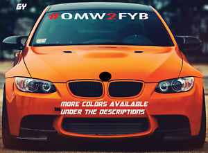Gy Omw2fyb Windshield Decal Car Sticker Banner Graphics Low Stance