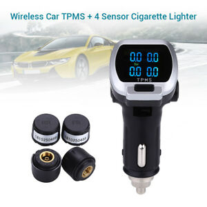 Auto Wireless Tire Tyre Pressure Monitor System Tpms 4 Sensors For Toyota Ford