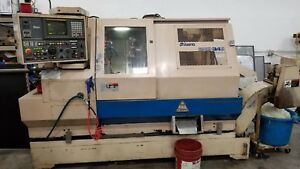 Miyano Bne 34s Cnc Lathe Live Tools Sub Spindle Twin Turret Chip Conveyor