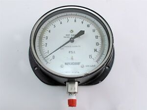 Helicoid 2668 15 Psi Pressure Test Gauge 6 Diameter Part No G4d1c5a100000