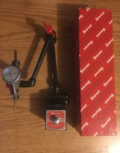 Starrett 657aa Magnetic Base Indicator Holder With Interapid Indicator 0005