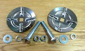 1957 Chevy Front Bumper Guard Inserts With Hardware
