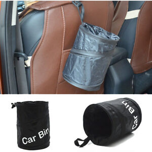 Foldable Car Auto Garbage Can Trash Can Wastebasket Garbage Dust Case Holder Bin