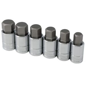 Titan 16156 6pc Sae Large Hex Bit Socket Set