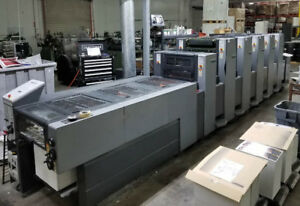 Heidelberg Printing Press Sm52 5p lx 5 Color With Coater Ryobi Komori