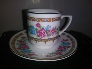 Vintage Porcelain Tea Cup And Saucer Plate China