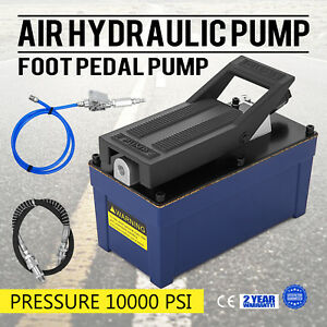 Air Hydraulic Foot Pump With Hose And Coupler 10000 Psi 103 In3 Cap Aw 46