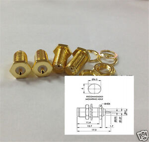 100pcs Antenna Sma Socket Female Front Mount Connector Solder Cup Nut Washer