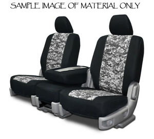 Custom Fit Front Seat Covers For 1999 2001 Jeep Wrangler Digital Grey Neoprene