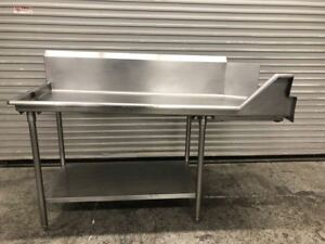 71 Left Side Dish Washer Side Table All Stainless Steel Clean Nsf 9209 Load