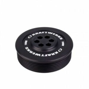 Kraftwerks 159 99 1107 Supercharger 7 Ribbed Pulley 110mm Black Anodized