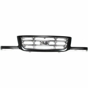 New Black Shell With Chrome Grille Insert Fits 2001 2003 Ford Ranger Fo1200394