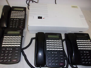 Comdial Dx 80 Key Service Unit With 4 7260 00 Business Display Phones