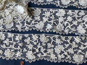Unusual Victorian Irish Crochet Border Point De Venise Design Long Yardage