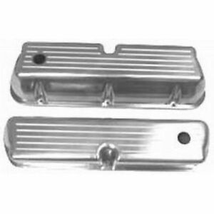 Racing Power Company R6172 Polished Aluminum Valve Covers For Sb Ford