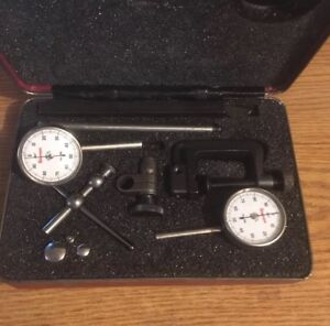 Starrett No 196 Back Plunger Dial Indicator Set With Attachments 001