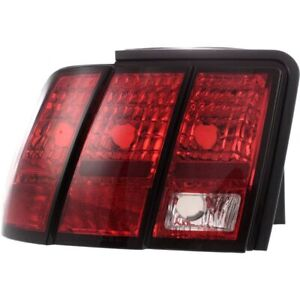 Halogen Tail Light For 1999 2004 Ford Mustang Left Clear Red Lens