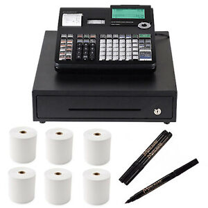 Casio Pcr t2300 Cash Register With Detector Pen 3 And Thermal Paper 6