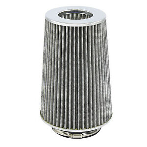White Universal Cone Intake Air Filter 10 6 L X 6 W Inlet 3 3 5 Or 4 Large