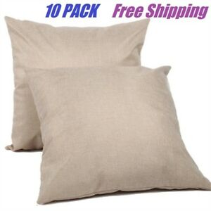 10 Pack 16 Sublimation Blank Linen Pillow Case Cushion Cover Diy Printing