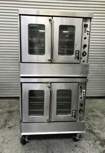 Double Stack Gas Convection Oven Montague 115a 8023 Commercial Bakery Ovens Nsf