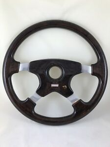 Vintage Momo Steering Wheel 380mm Dark Brown Briar Root Made In Italy 2 91 Rare