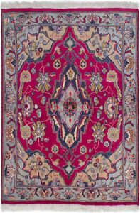 Hand Knotted Persian Carpet 3 7 X 5 0 Burgundy Wool Rug